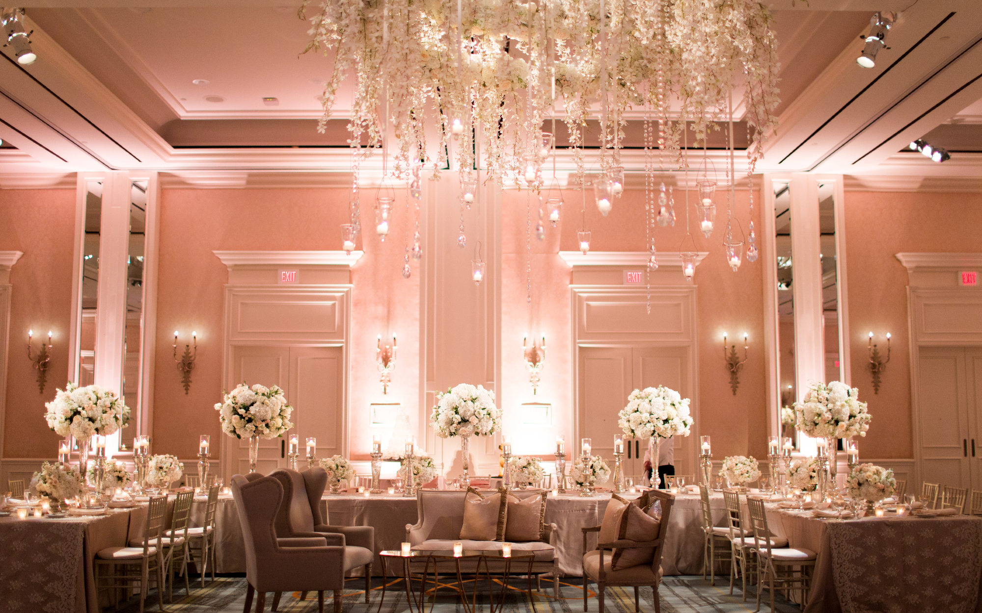 Blush Room Uplighting at The Four Seasons Las Colinas