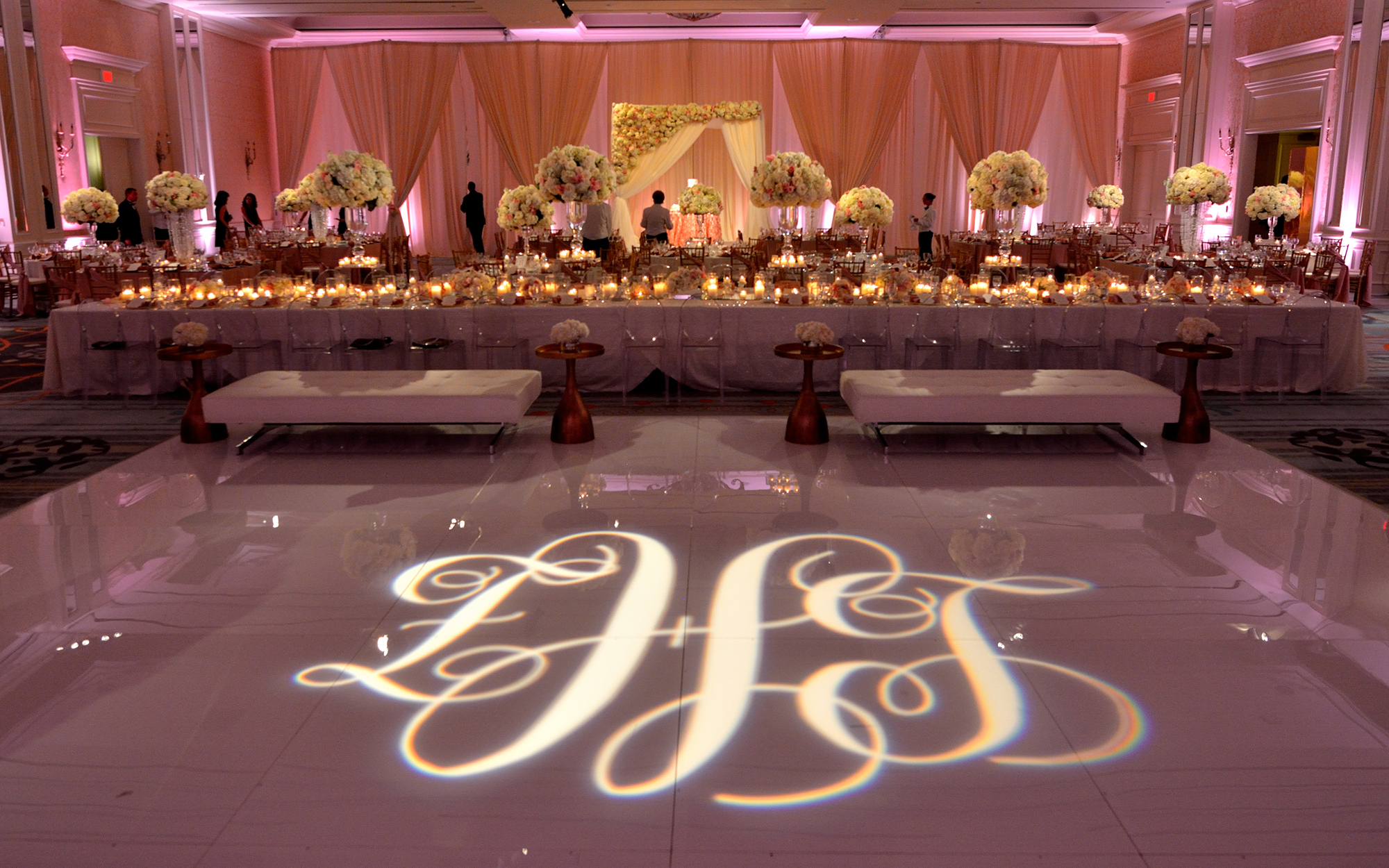 Gobo Projected onto Dance Floor at The Four Seasons Las Colinas