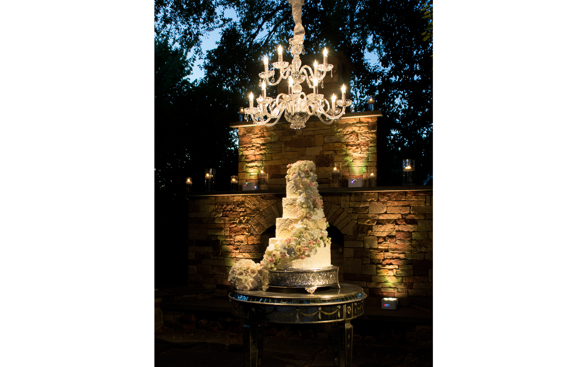 Outdoor Cake Lighting and Chandelier